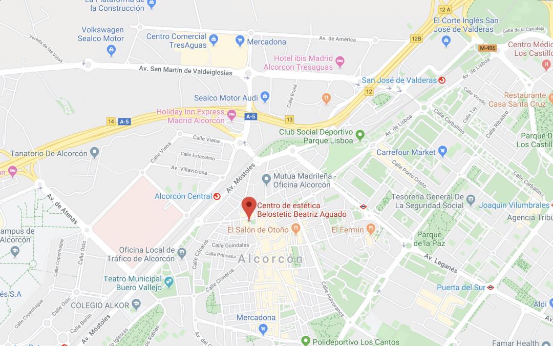 ¿Cómo llegar? Centro de estética en Alcorcón